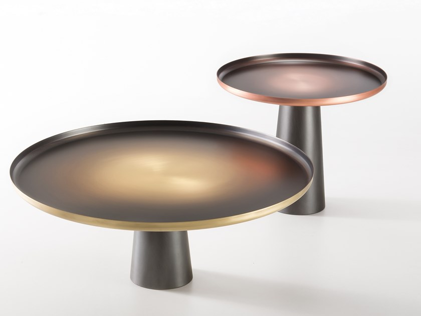 Round metal coffee table SUNRISE & SUNSET by DE CASTELLI