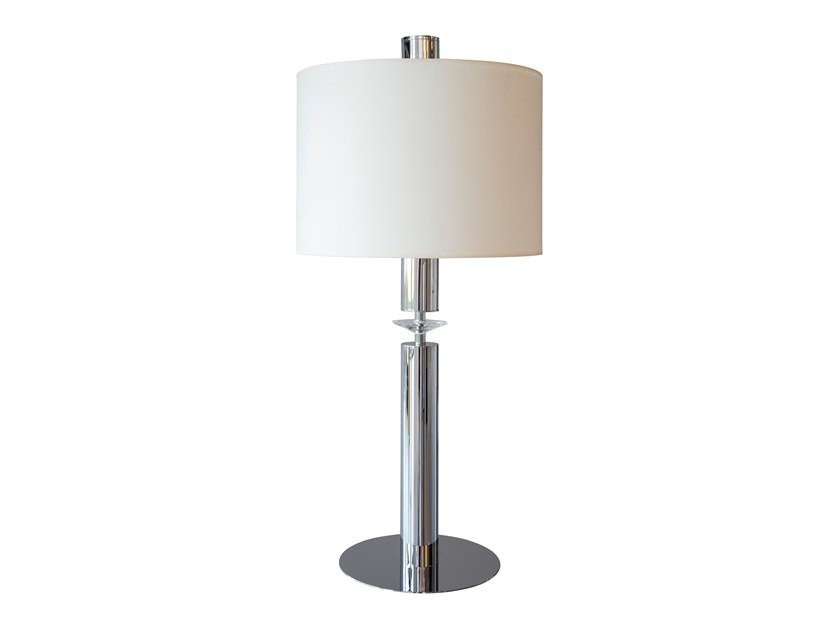 Direct-indirect light metal table lamp with fixed arm SUNRISE T3 by ILFARI