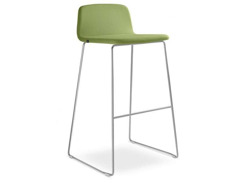 Sled base office stool with footrest SUNRISE153-K by LD Seating
