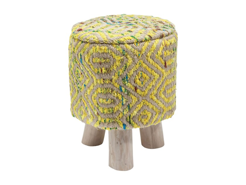 Sunset yellow low stool by kare design