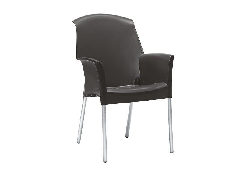 Sedia ergonomica impilabile con braccioli SUPER JENNY | Sedia impilabile by SCAB DESIGN