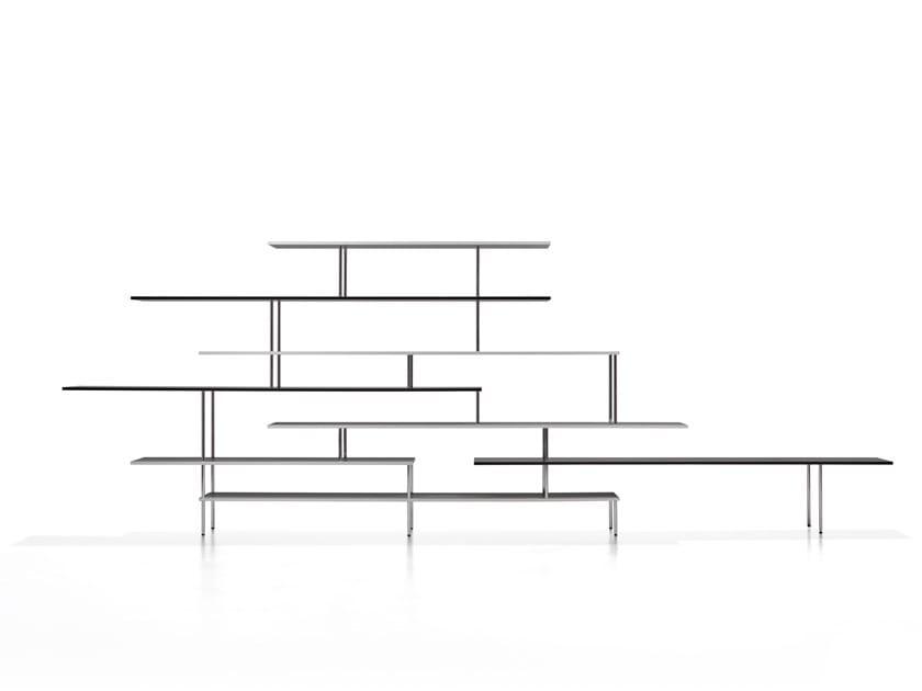 Libreria componibile in alluminio estruso SUPER_POSITION by MDF Italia