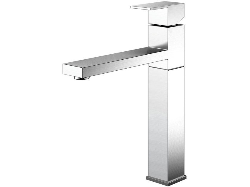 Countertop brushed-finish stainless steel kitchen mixer tap SUPERIOR SU-100 by Nivito