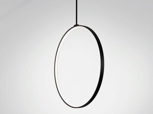 LED ceiling lamp SUPERLOOP VR SBL by Delta Light