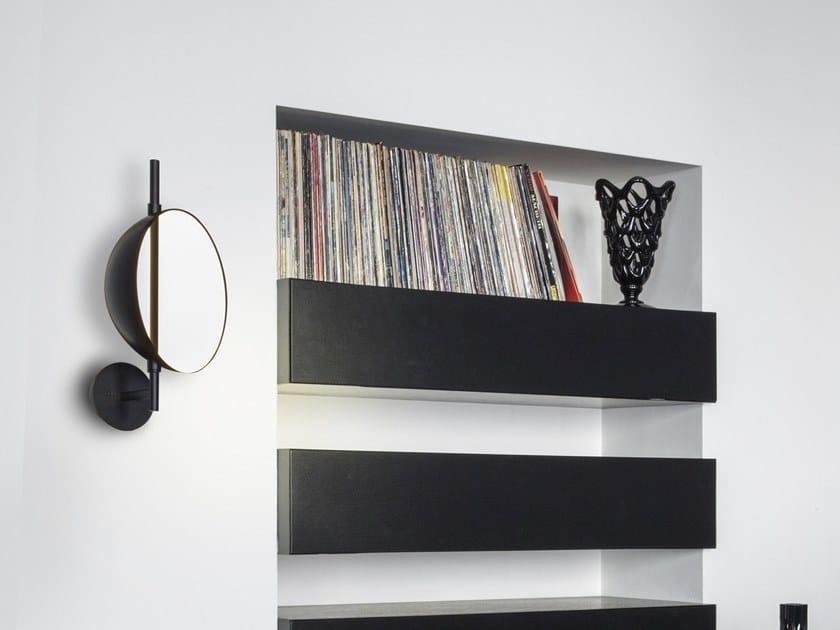 Indirect light adjustable metal wall lamp SUPERLUNA - 197 by Oluce