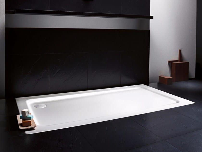 Flush fitting rectangular enamelled steel shower tray SUPERPLAN XXL by Kaldewei Italia