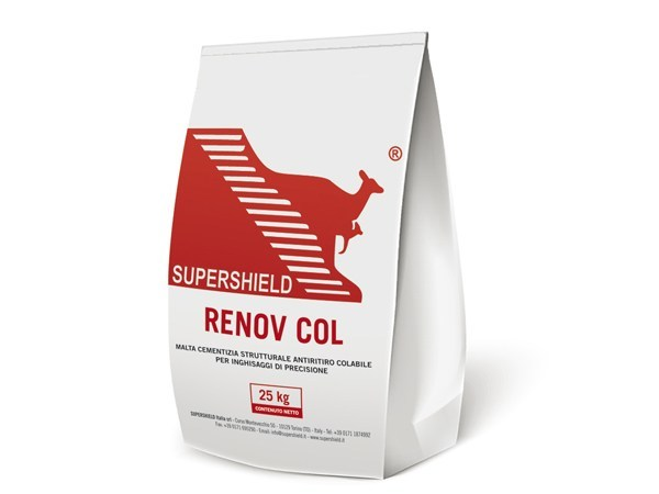 Pourable non-shrink structural cement mortar SUPERSHIELD RENOV COL by Supershield