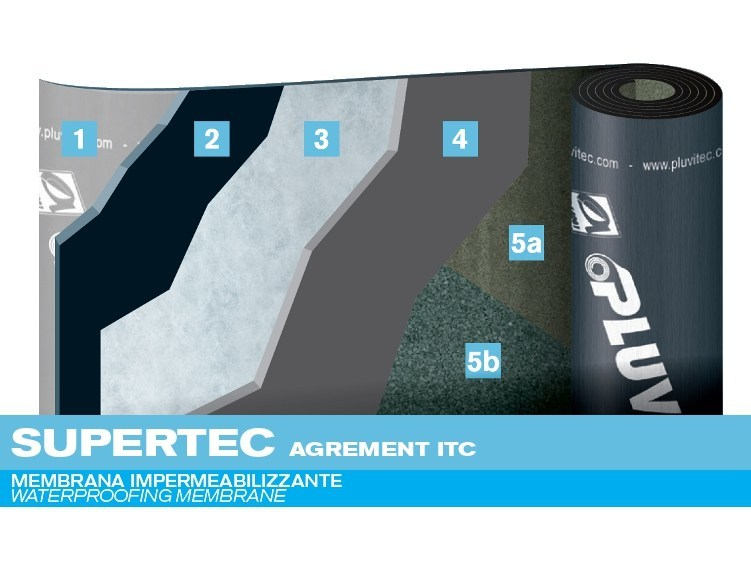 Prefabricated bituminous membrane SUPERTEC AGREMENT ITC by PLUVITEC