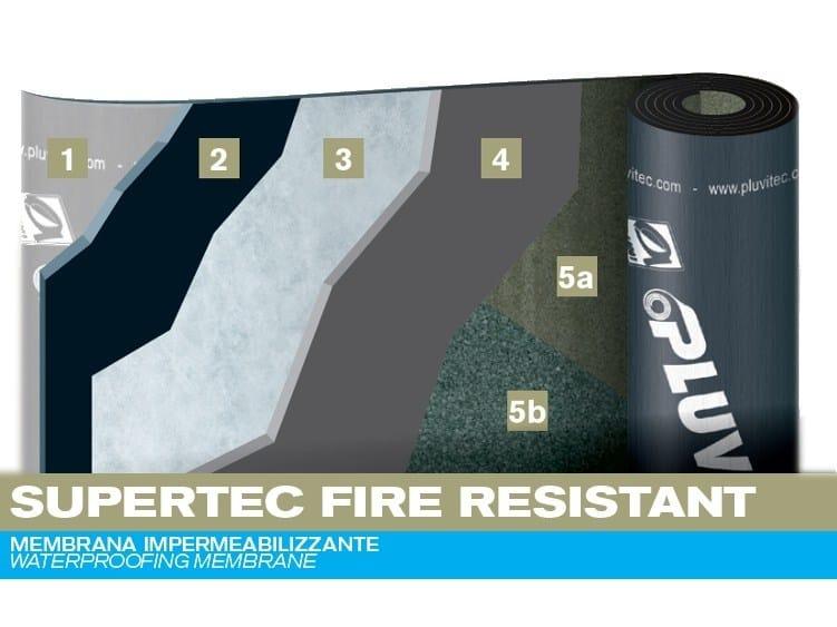 Prefabricated bituminous membrane SUPERTEC FIRE RESISTANT by PLUVITEC
