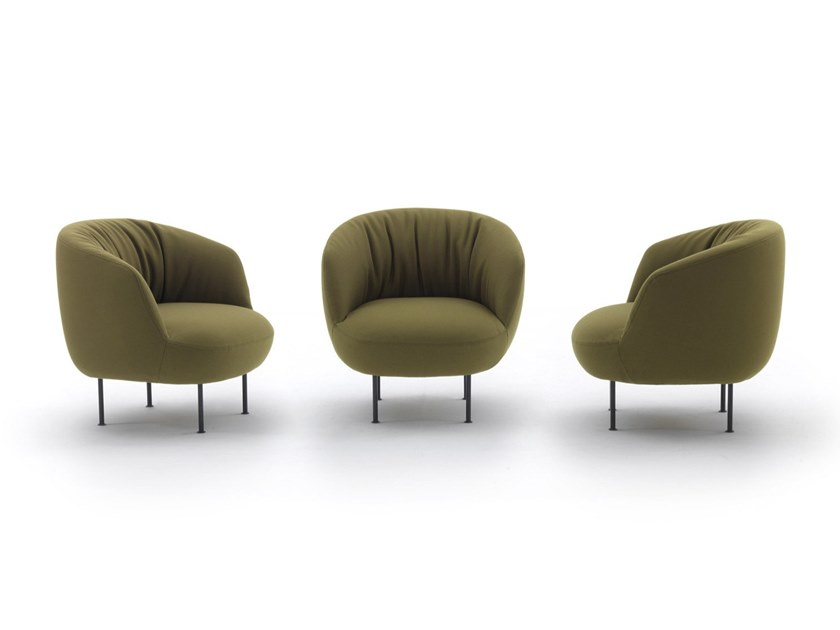 Upholstered fabric easy chair SUPPLI' by arflex