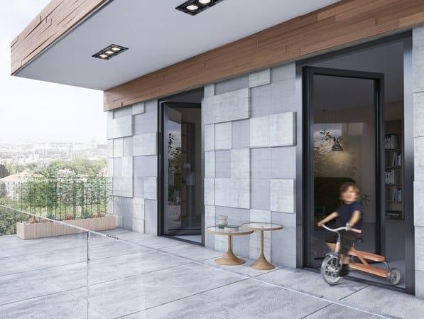 Porta-finestra a taglio termico con triplo vetro SUPREME S77 by Alumil