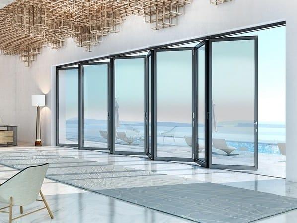 Glass and aluminium glass facade SUPREME SF85 by Alumil
