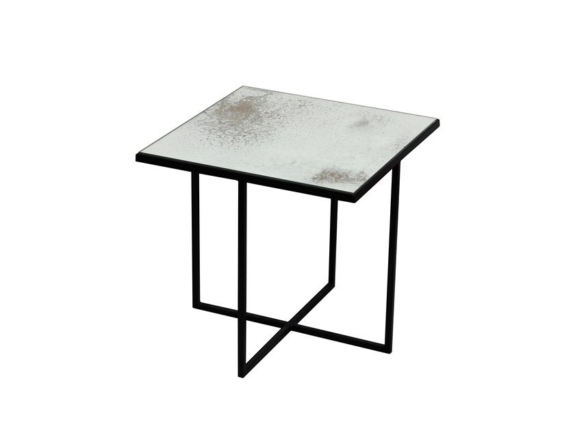 Square mirrored glass coffee table SURFACE by Notre Monde