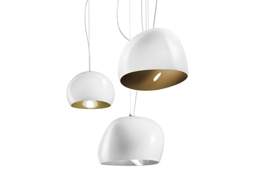Glass pendant lamp SURFACE SP by Vetreria Vistosi