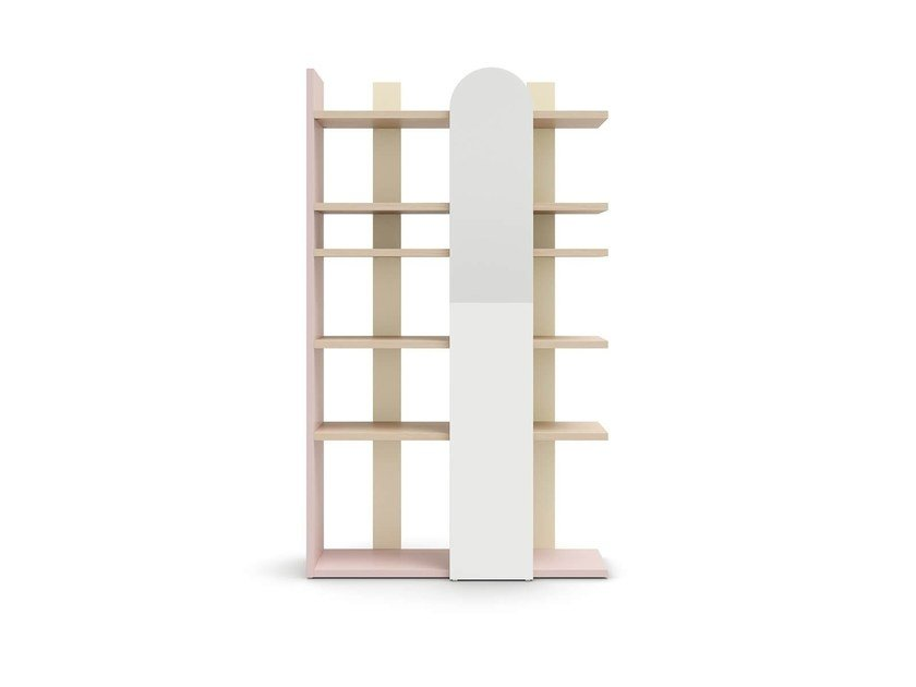 Freestanding kids bookcase SURFY by Nidi
