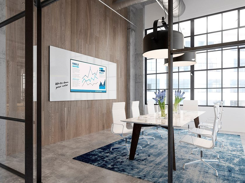 Lavagna per ufficio magnetica a parete SURROUND by Chameleon