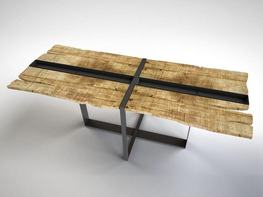 Rectangular cedarwood table SUSHI by IronWoods
