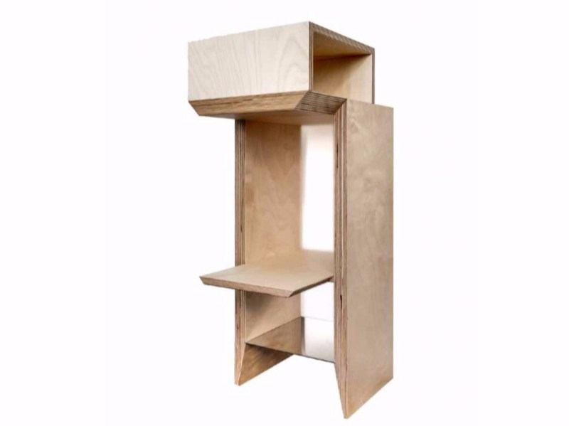 Rectangular wooden bedside table SUSPENSE by MALHERBE EDITION
