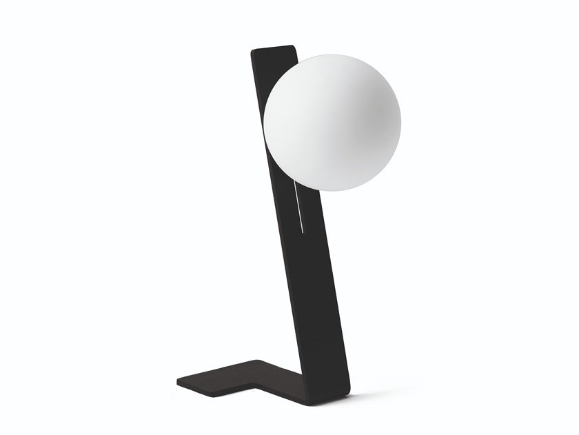 LED indirect light painted metal table lamp SUSPENSE   Table lamp by Midj