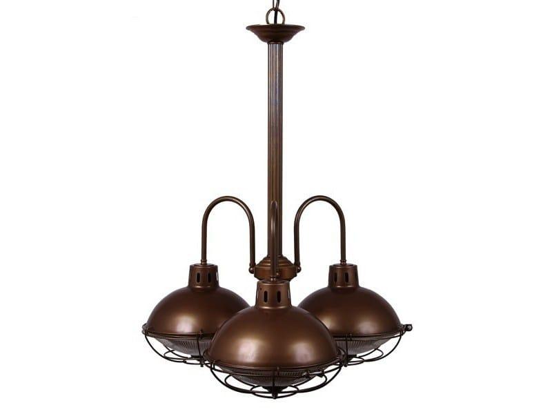 Brass chandelier SUSSEX 3 Arm by Mullan Lighting