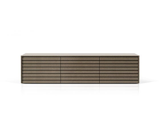 Suspended wooden sideboard with doors SSX301 | Suspended sideboard by Punt