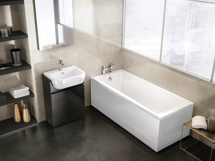 Rectangular built-in bathtub SUSTAIN by Polo
