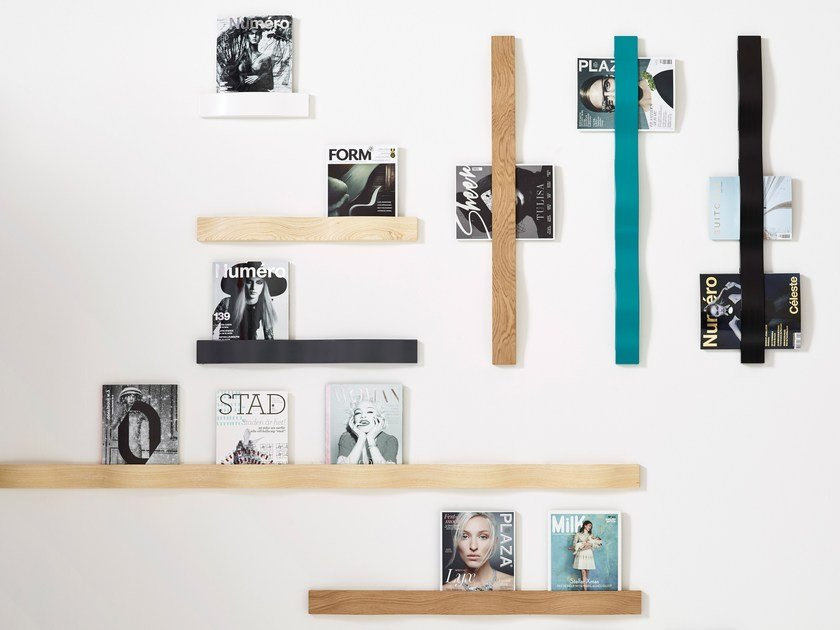 Wooden magazine rack SVALL by Karl Andersson