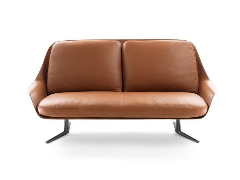 2 seater leather sofa SVEVA | Sofa by FLEXFORM