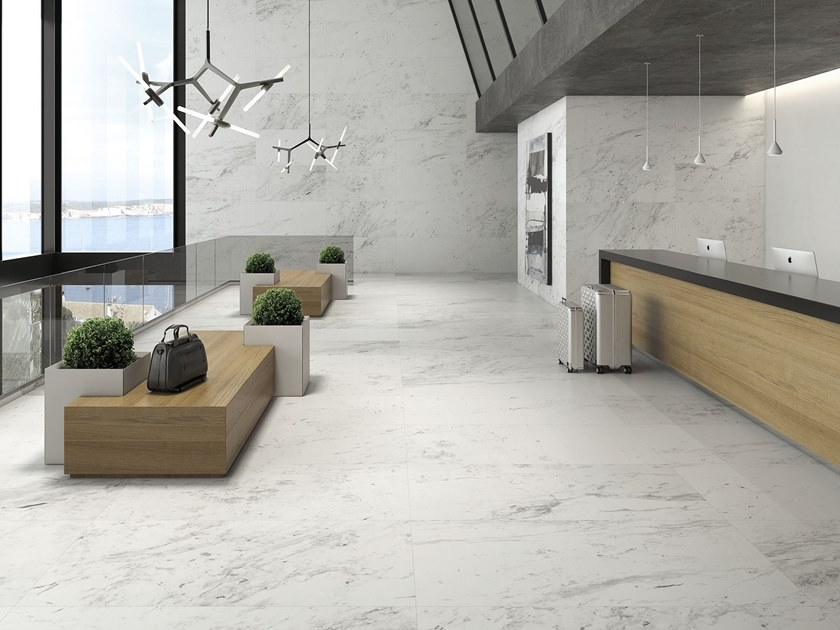Porcelain wall/floor tiles with marble effect SWAN | Porcelain wall/floor tiles by ITT Ceramic