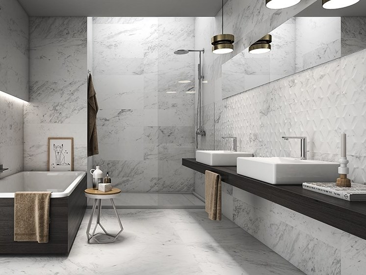 White-paste wall tiles with marble effect SWAN | White-paste wall tiles by ITT Ceramic