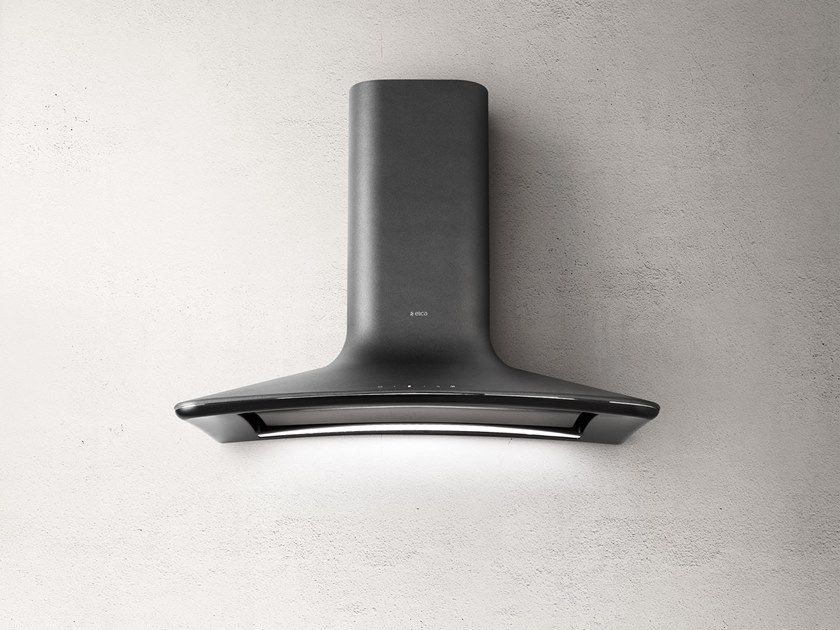 Wall mounted technopolymer cooker hood sweet by elica design