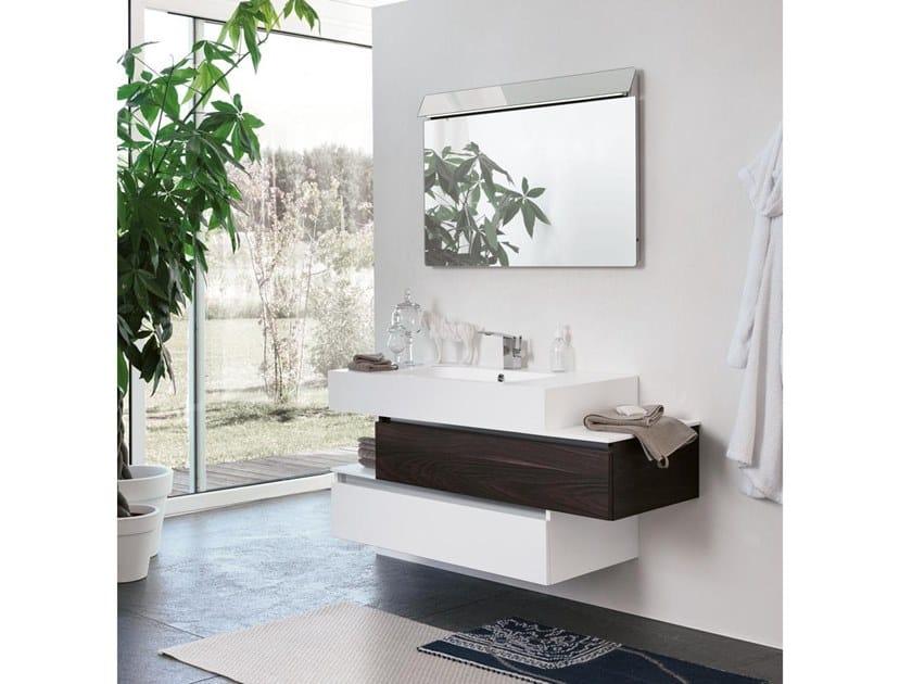 Mobile lavabo sospeso con specchio SWING 20 by BMT