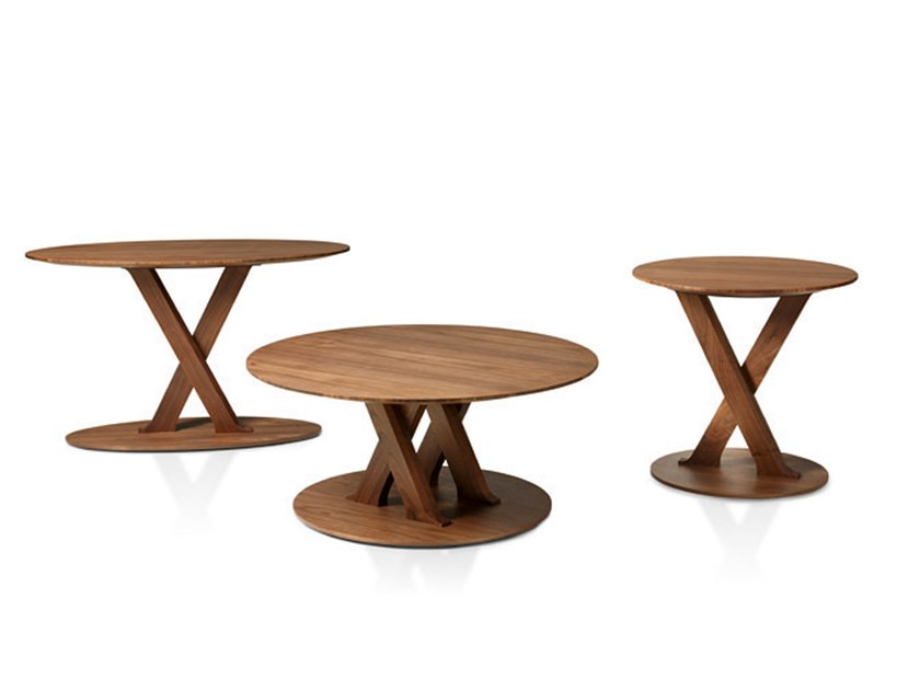 Round wooden coffee table SWING | Coffee table by Busnelli