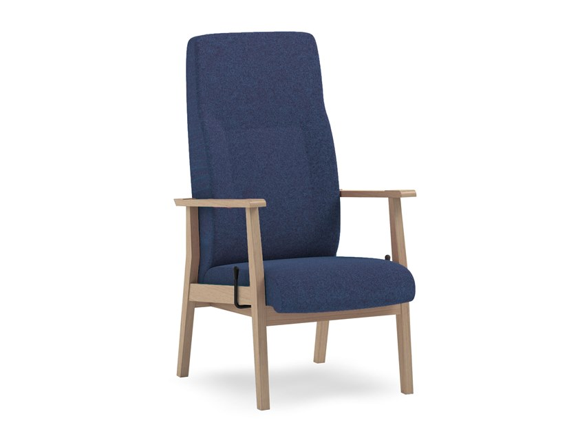 Recliner fabric armchair with armrests SWING | HEALTH & CARE | Armchair with armrests by PIAVAL