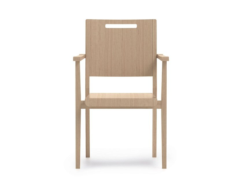 Stackable beech chair with armrests SWING | HEALTH & CARE | Beech chair by PIAVAL