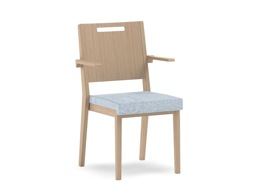 Stackable fabric chair with armrests SWING | HEALTH & CARE | Chair with armrests by PIAVAL