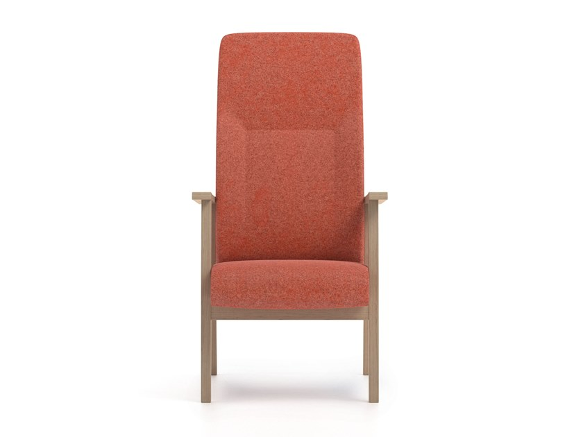 High-back fabric armchair with armrests SWING | HEALTH & CARE | High-back armchair by PIAVAL