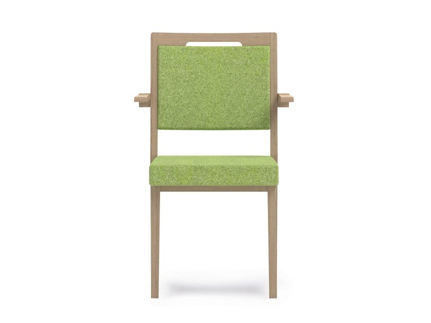 Stackable fabric chair with armrests SWING | HEALTH & CARE | Stackable chair by PIAVAL