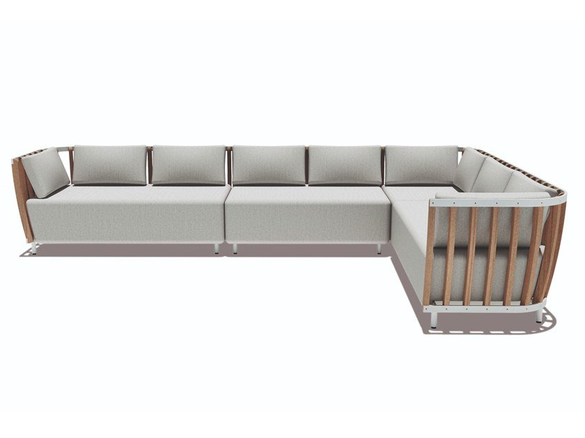 Modular teak garden sofa SWING | Modular garden sofa by Ethimo