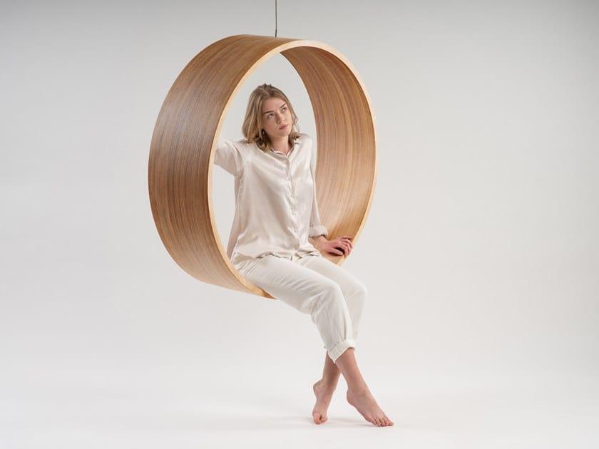 Swing wooden armchair SWING N.3 | Wooden armchair by Iwona Kosicka Design