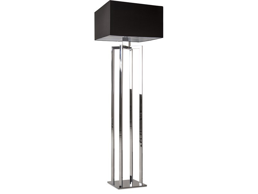 Direct-indirect light metal floor lamp SWINGING BALLET F1 by ILFARI