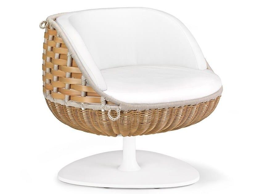 Swivel garden armchair SWINGREST | Garden armchair by DEDON