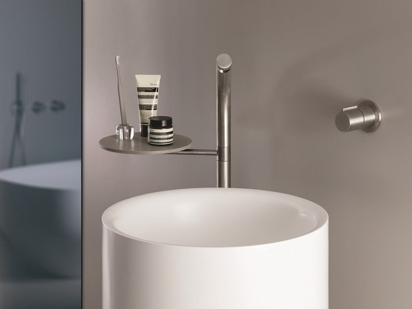 Floor standing stainless steel washbasin tap SX | Floor standing washbasin tap by CRISTINA