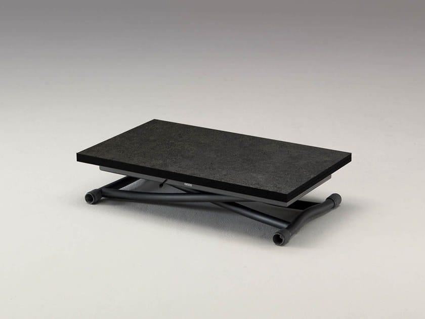 Height-adjustable ceramic coffee table SYDNEY CR by Ozzio Italia