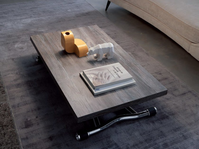 Height-adjustable wooden coffee table SYDNEY by Ozzio Italia