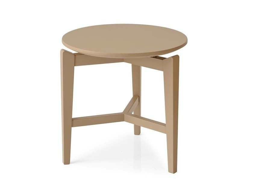 Round wooden side table SYMBOL | Round coffee table by Calligaris