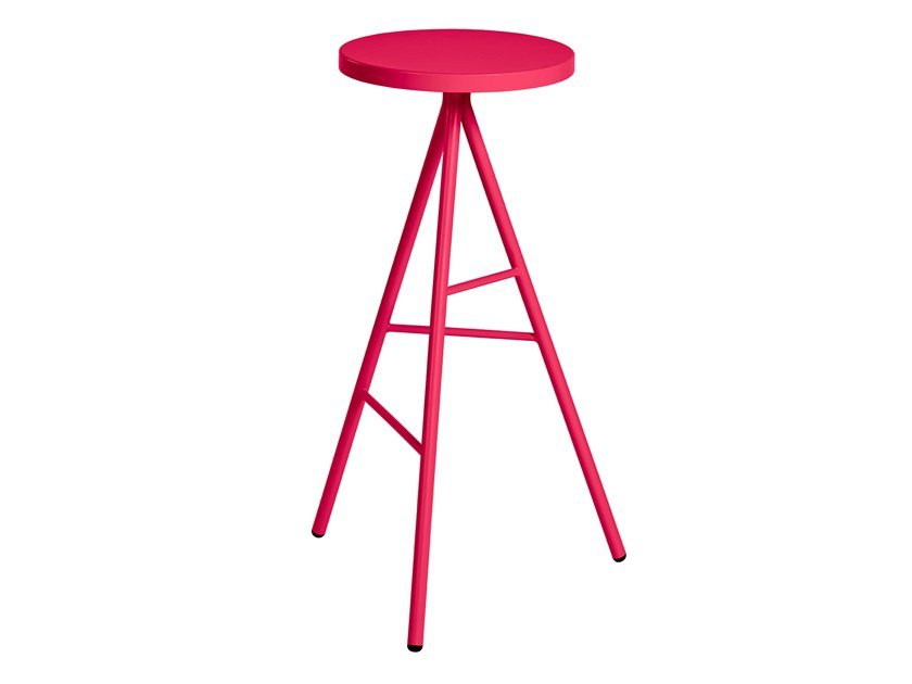 Metal garden stool with footrest SYMPLE | Stool by CaStil