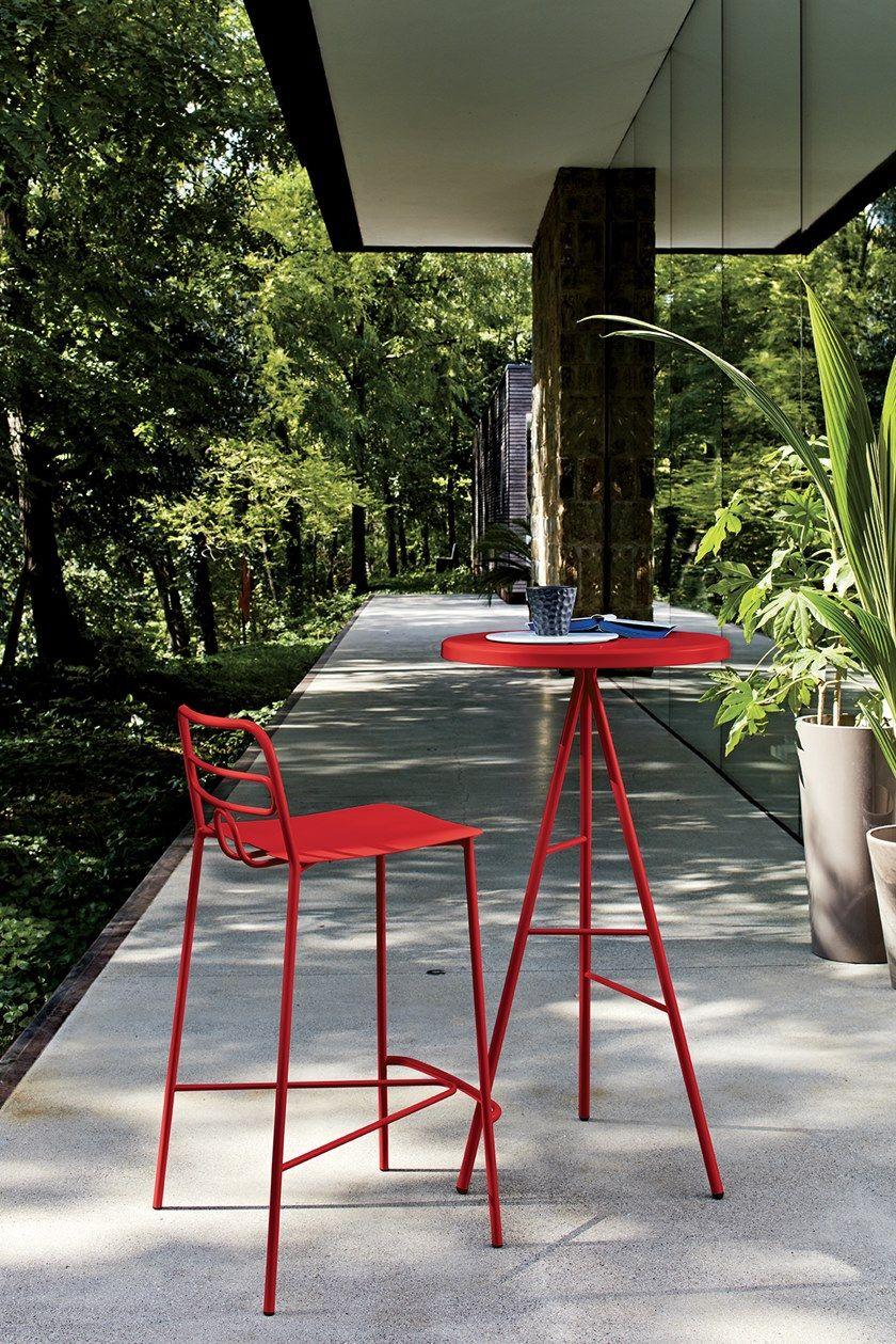 Tavolo Da Giardino Metallo.Tavolo Da Giardino Rotondo In Metallo Symple Tavolo Da Giardino