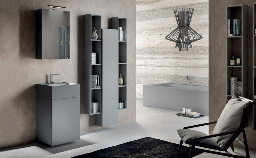 Bathroom cabinet / vanity unit SYN 10 by LASA IDEA
