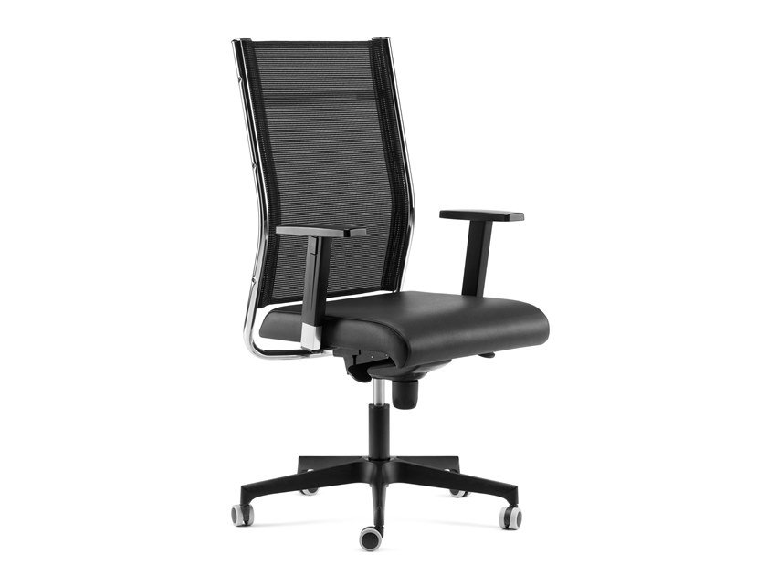 Height-adjustable executive chair with 5-spoke base SYNCRONET | High-back executive chair by Arte & D